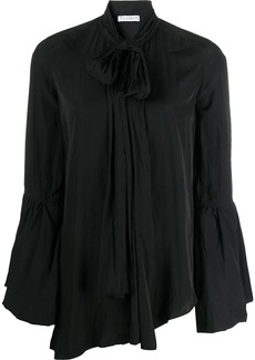 JW Anderson tie-neck bell-sleeves blouse