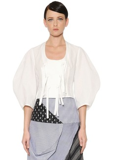 JW Anderson Washed Cotton & Linen Cropped Top