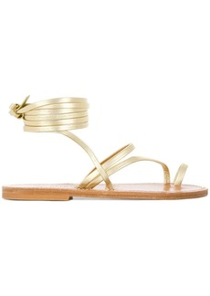 K. Jacques ankle fastened flat sole summer sandals