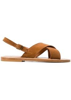 K. Jacques cross strap sandals