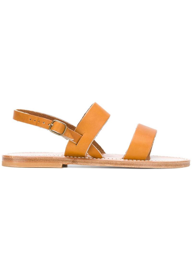 6238c6125b0 K. Jacques K. Jacques flat sole summer sandals - Nude   Neutrals ...