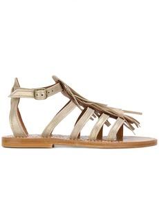 K. Jacques fringe sandals - Metallic