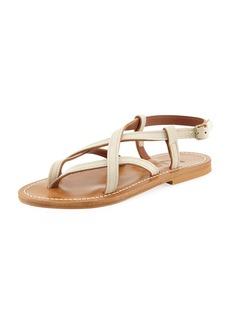 K. Jacques Ingrid Flat Leather Sandal