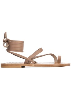 K. Jacques strappy lace up sandals - Brown