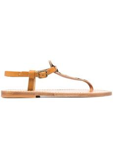 K. Jacques leopard-print thong sandals