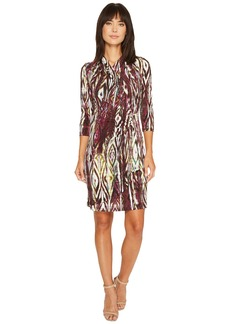 Karen Kane 3/4 Sleeve Cascade Wrap Dress