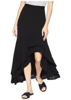 Karen Kane Asymmetric Raw Hem Skirt