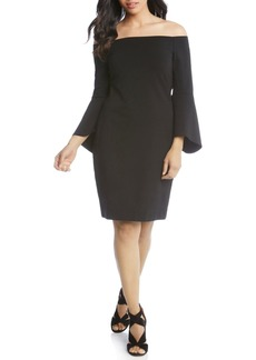 Karen Kane Bell Sleeve Off the Shoulder Dress