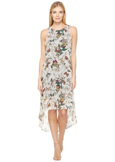 Karen Kane Butterfly Hi-Lo Hem Dress