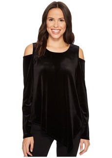 Karen Kane Cold Shoulder Asymmetric Hem Top