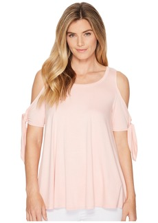 Karen Kane Cold Shoulder Knot Top