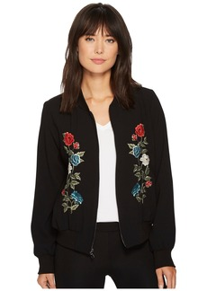 Karen Kane Embroidered Bomber Jacket