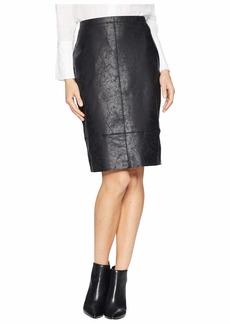 Karen Kane Faux Leather Skirt