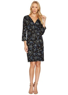 Karen Kane Floral Stitch Print Shift Dress