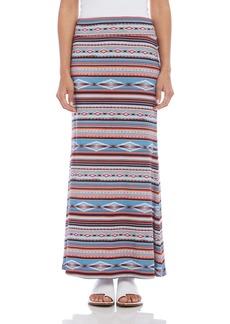 Karen Kane Geomeric Patterned Maxi Skirt