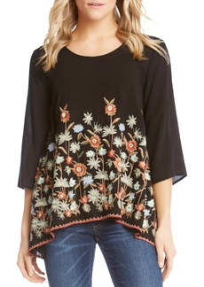 Karen Kane Kane Kane Embroidered Handkerchief Top