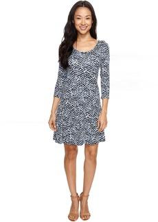 Karen Kane 3/4 Sleeve Flared Godet Dress