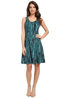 Karen Kane Abstract Dot Fit and Flare Dress