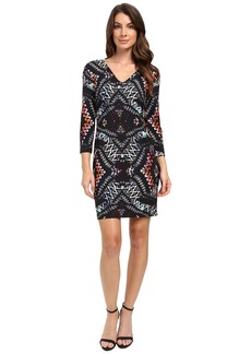 Karen Kane Abstract Kaleidoscope Sheath Dress