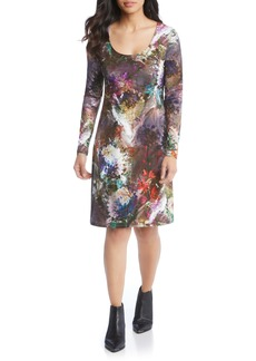 Karen Kane Abstract Print A-Line Dress
