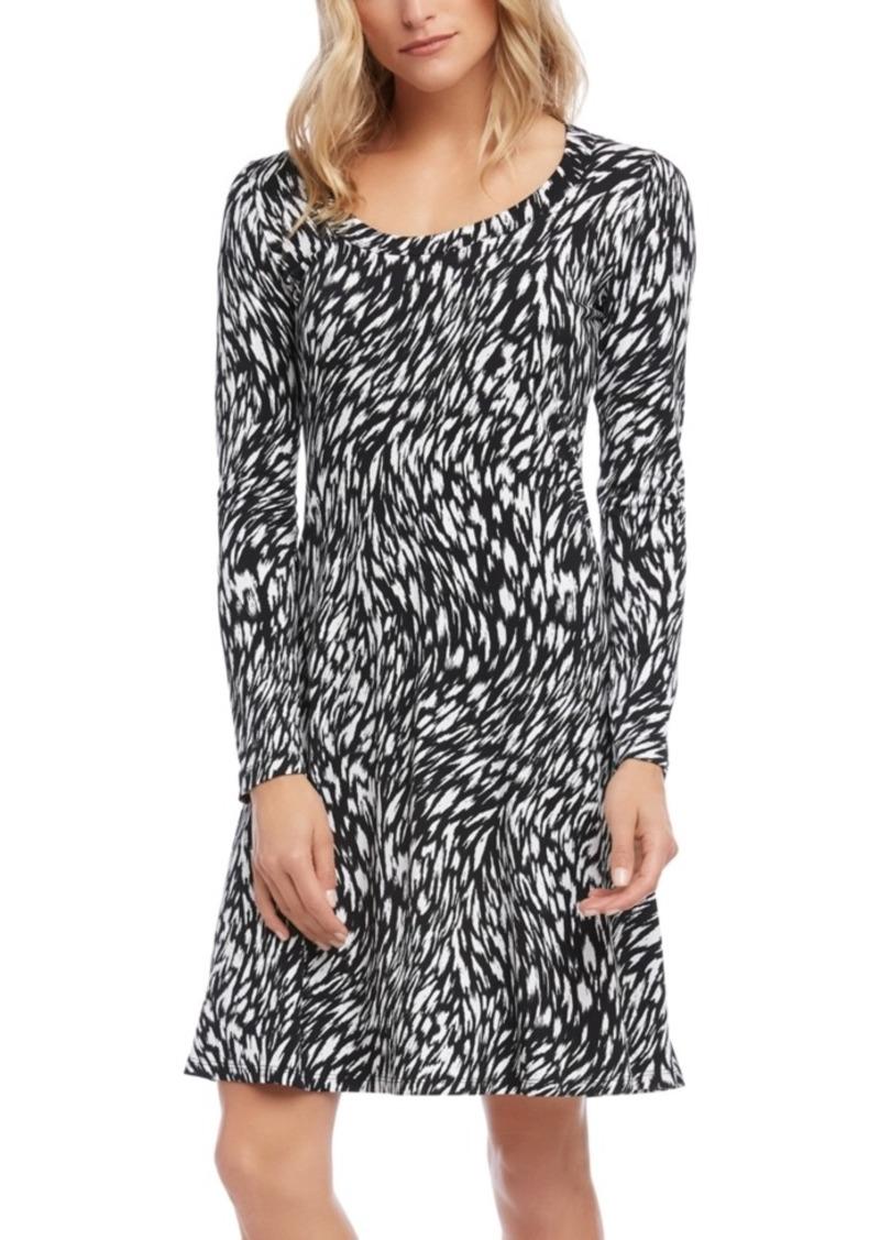 Karen Kane Abstract-Print A-Line Dress