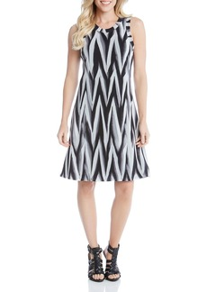 Karen Kane Abstract Print Dress