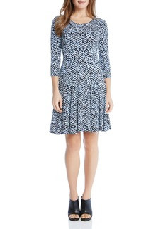 Karen Kane Abstract Print Flare Dress