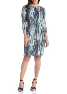 Karen Kane Abstract Print Sheath Dress