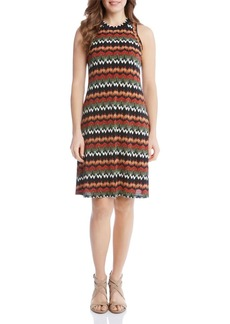 Karen Kane Abstract Zig Zag Print Dress