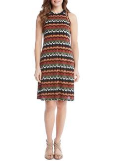 Karen Kane Abstract Zigzag Stretch Knit Dress