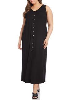 Karen Kane Alana Button Front Maxi Dress (Plus Size)