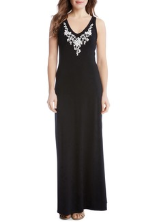Karen Kane Alana Embroidered Maxi Dress (Regular & Petite)