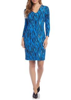 Karen Kane Animal Print Long Sleeve Dress