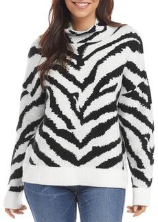 Karen Kane Animal Print Mock Neck Sweater