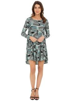 Karen Kane Aquarius Print Swing Dress