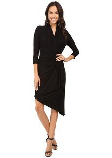 Karen Kane Asymmetrical Cascade Wrap Dress