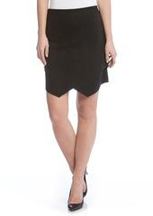 Karen Kane Asymmetrical Faux Suede Skirt