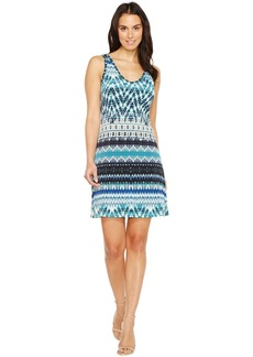 Karen Kane Batik Stripe Brigitte Dress