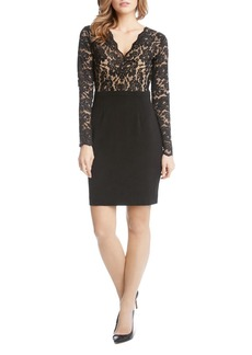 Karen Kane Becca Lace-Bodice Dress