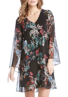 Karen Kane Bell Sleeve A-Line Dress