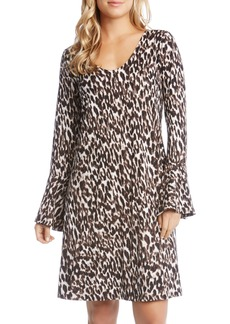 Karen Kane Bell Sleeve Brushed Knit Dress