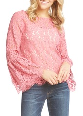Karen Kane Bell Sleeve Lace Blouse