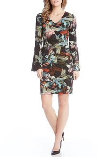 Karen Kane Bell Sleeve V-Neck Dress