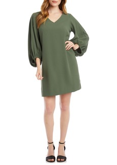 Karen Kane Bishop Sleeve Crepe Shift Dress
