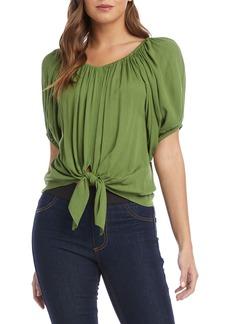 Karen Kane Blouson Sleeve Tie Front Top