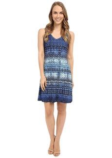 Karen Kane Blue Batik Brigitte Dress