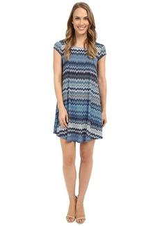 Karen Kane Blue Mesa Maggie Trapeze Dress