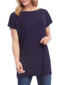 Karen Kane Boatneck Short Sleeve Tunic Top