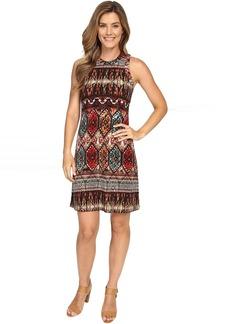 Karen Kane Border Print Halter Dress