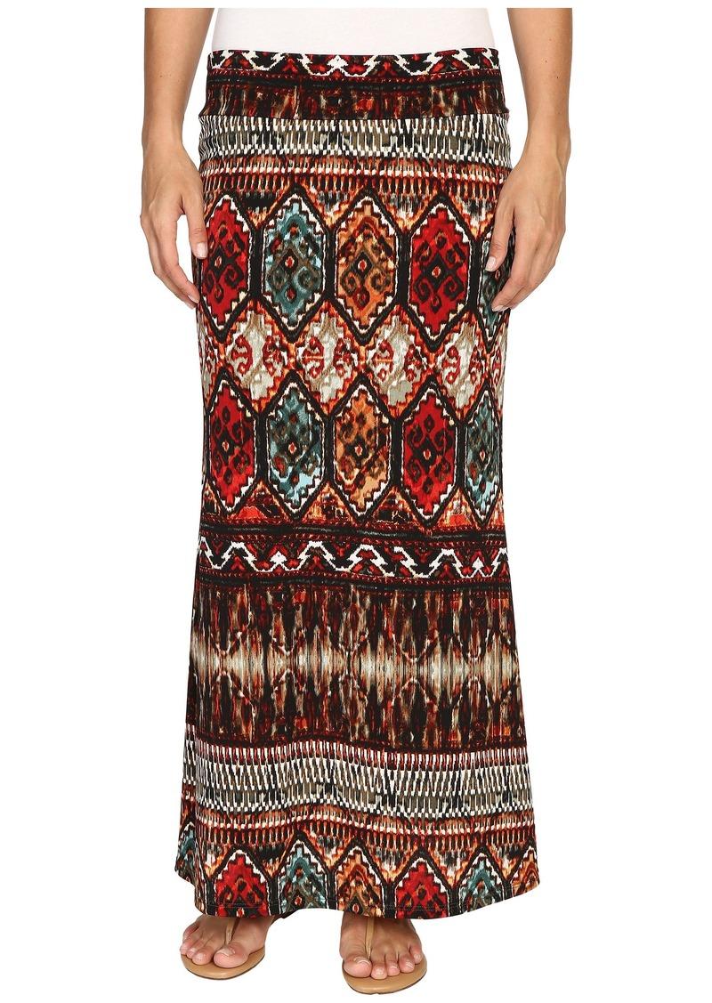 Karen Kane Border Print Maxi Skirt